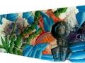 2-espace:80x30cm:Pastel-et-acrylique-sur-polystirene-extrude