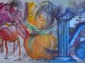 4-la-pomme-et-le-signe:180x60cm:aerosol-et-acrylique-sur-toile