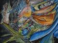 1-nymphea:120x100cm:aerosol-et-acrylique-sur-toile