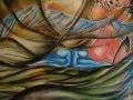 buddha-et-puis:150x100cm-aerosol-et-acrylique-sur-toile