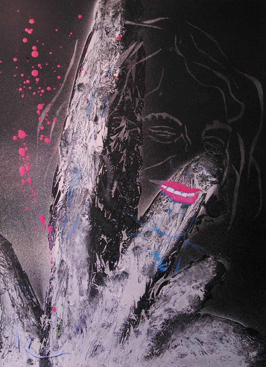 Street-Art – Pochoirs sur toiles et papiers – Expositions aux églises de Chelles / Marché d'Art Contemporain de Bastille – 2016