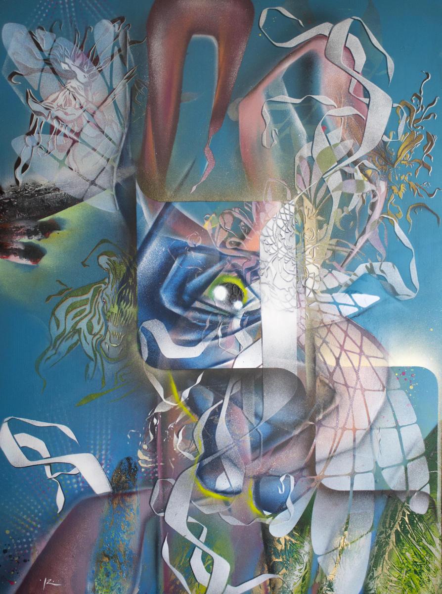 Série Cut-Uncut - l'imaginaire - Aérosols sur toiles - 130x90 cm - 950 €