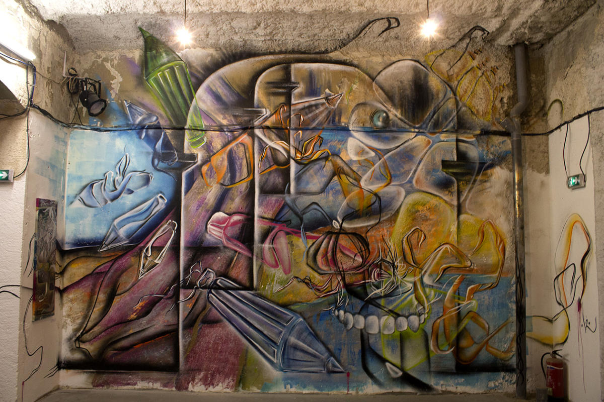 Superpositions & Mise en abîme - Installation picturale dans le cadre de American Graffiti, exposition du collectif AVC à Marseille 3013 - Janvier 2019 - Poasson