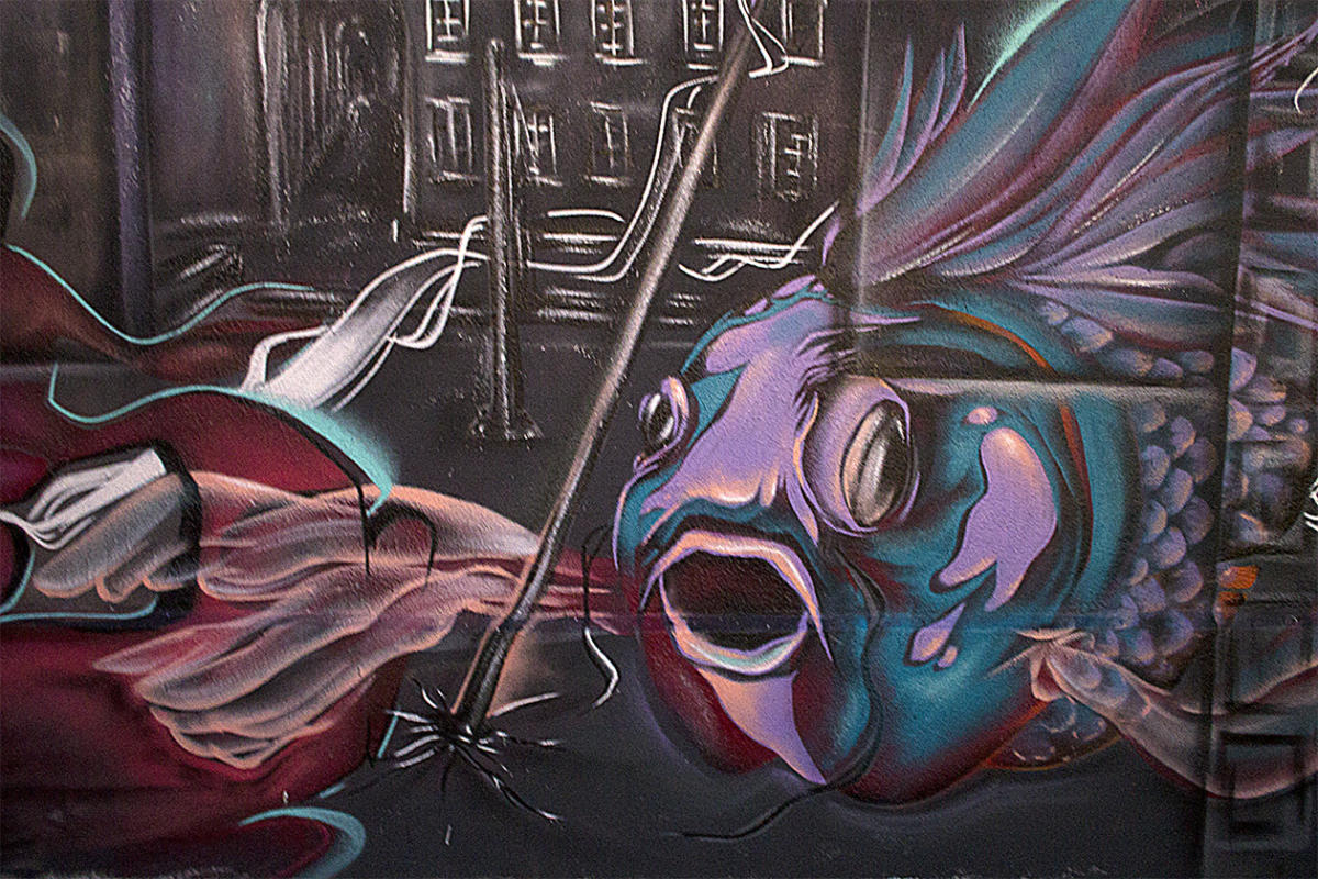 Des poissons et des arches - Fresque extérieure - Poasson 2019 - Marseille