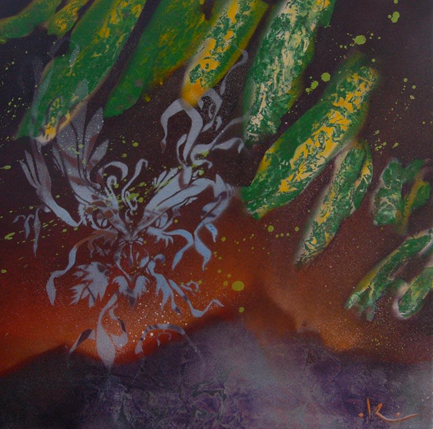L'aigle des étoiles - Aérosols sur toile - 50x40 cm - 250 €